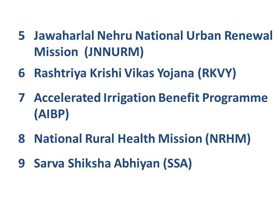 Jawaharlal Nehru National Urban Renewal Mission (JNNURM)