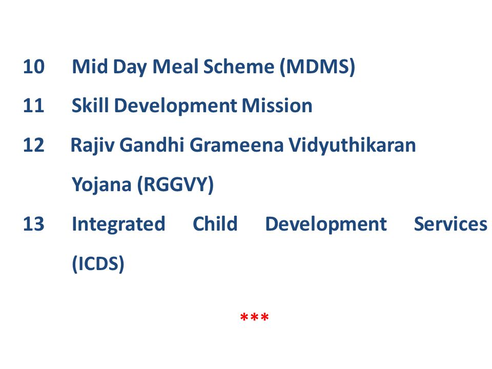 Mid Day Meal Scheme (MDMS) Skill Development Mission
