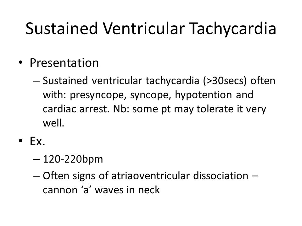 Sustained Ventricular Tachycardia