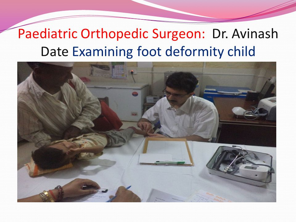 Paediatric Orthopedic Surgeon: Dr