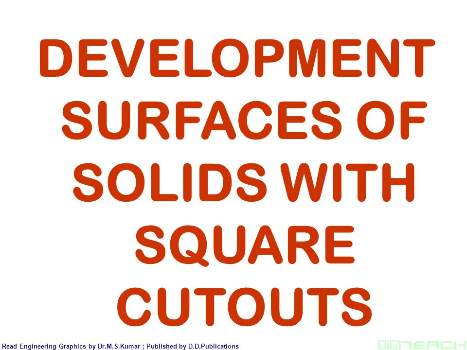 DEVELOPMENT SURFACES OF SOLIDS WITH SQUARE CUTOUTS