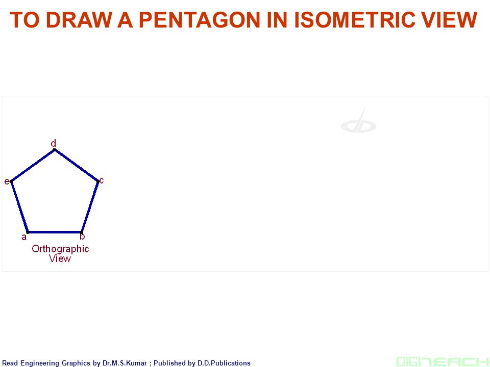 TO DRAW A PENTAGON IN ISOMETRIC VIEW
