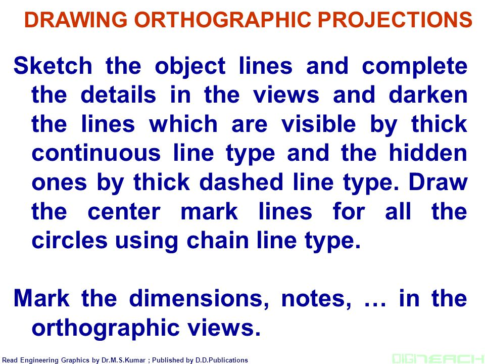 DRAWING ORTHOGRAPHIC PROJECTIONS