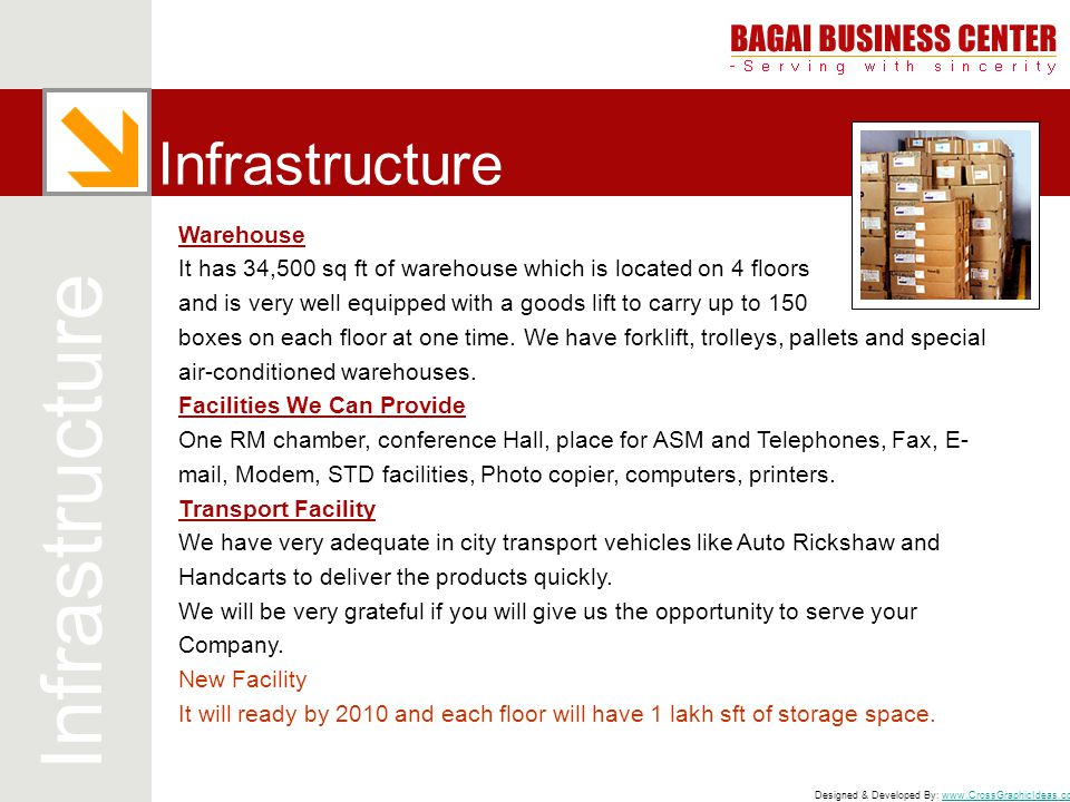 Infrastructure Infrastructure Warehouse