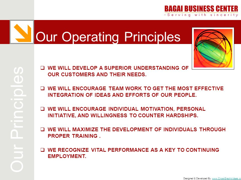 Our Operating Principles