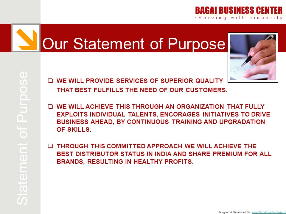 Our Statement of Purpose