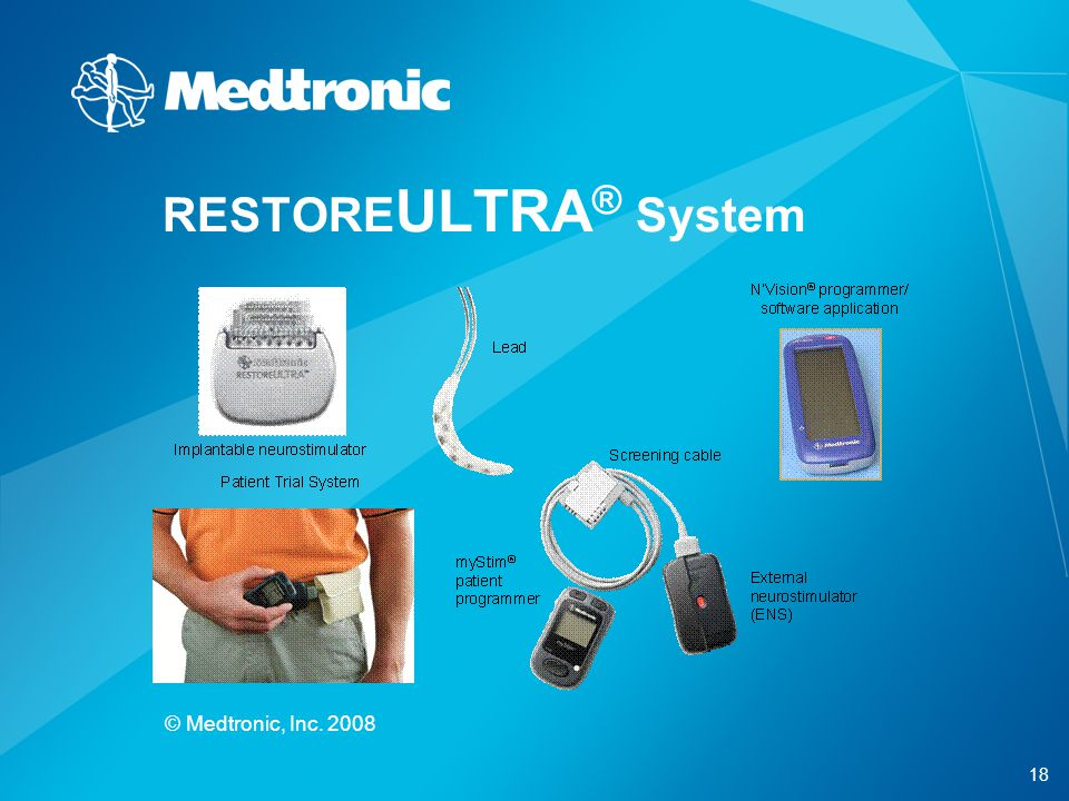 RESTOREULTRA® System © Medtronic, Inc. 2008