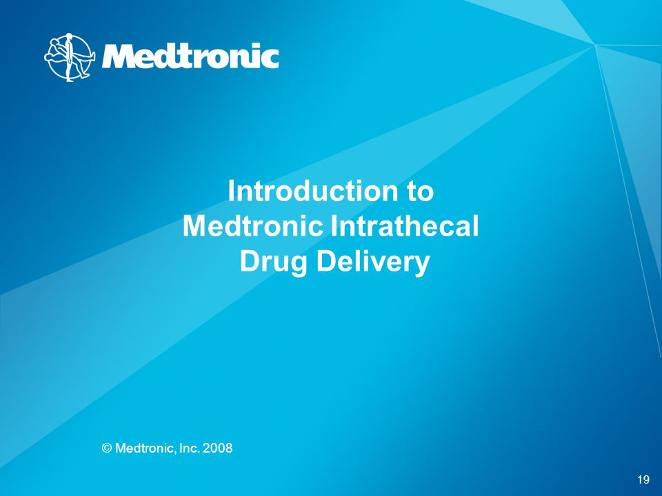 Introduction to Medtronic Intrathecal Drug Delivery