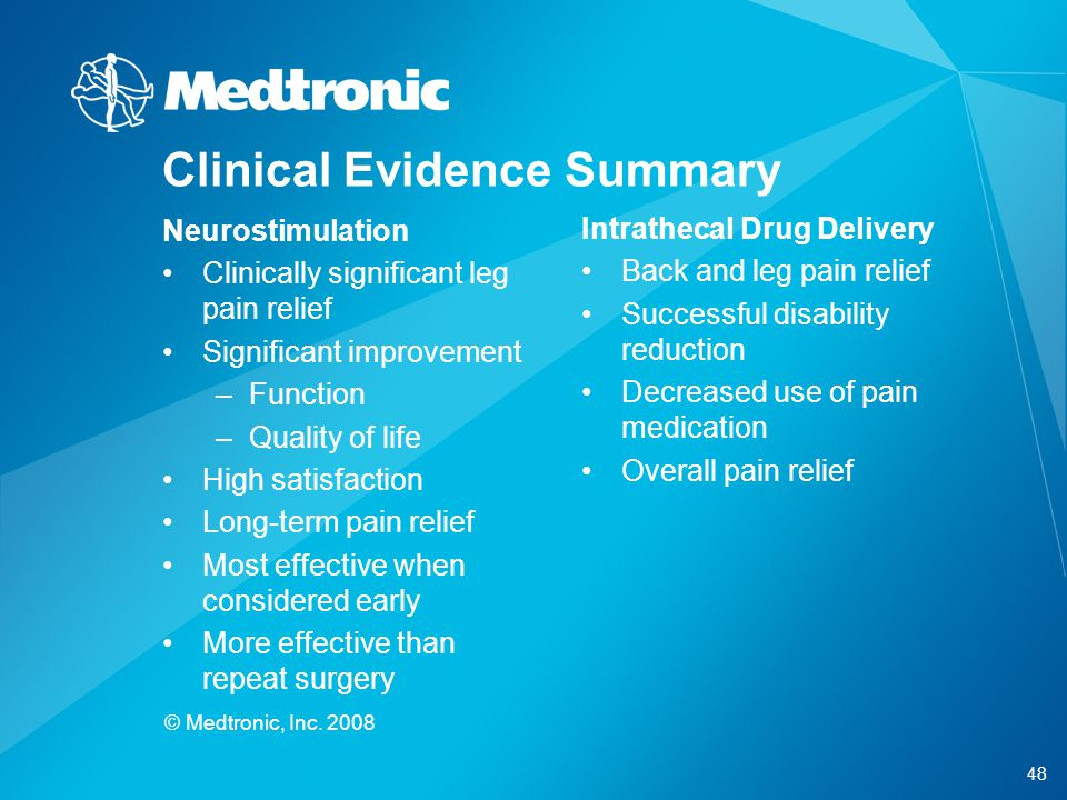 Clinical Evidence Summary