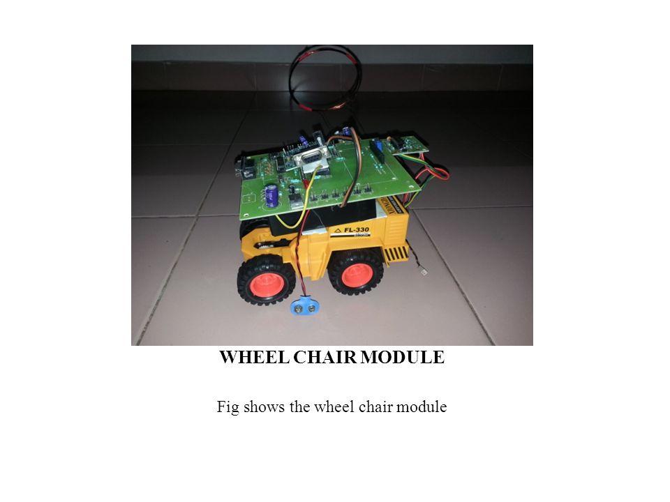 Fig shows the wheel chair module