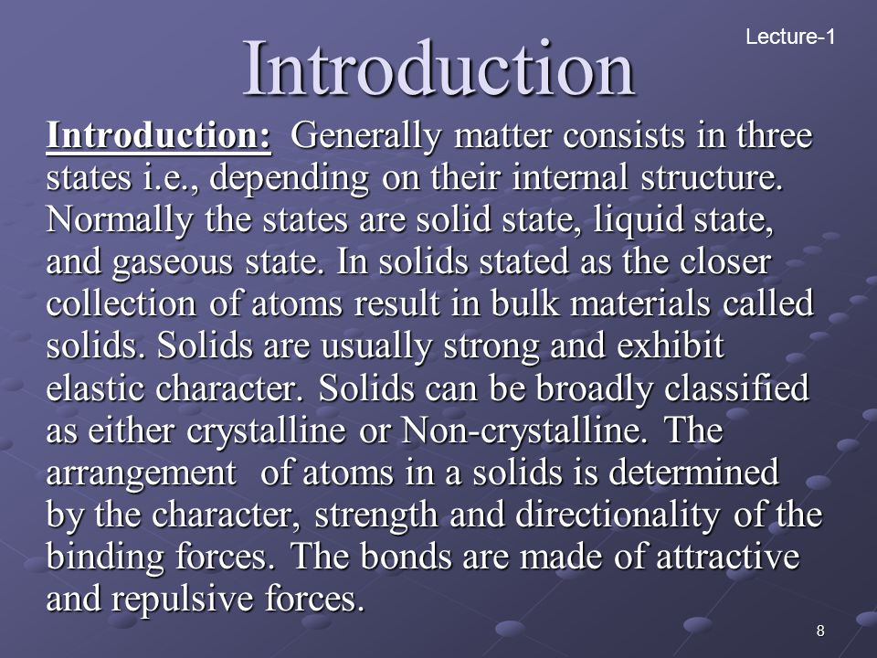Introduction Lecture-1.
