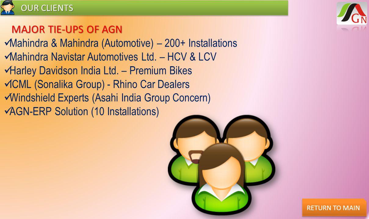 Mahindra & Mahindra (Automotive) – 200+ Installations