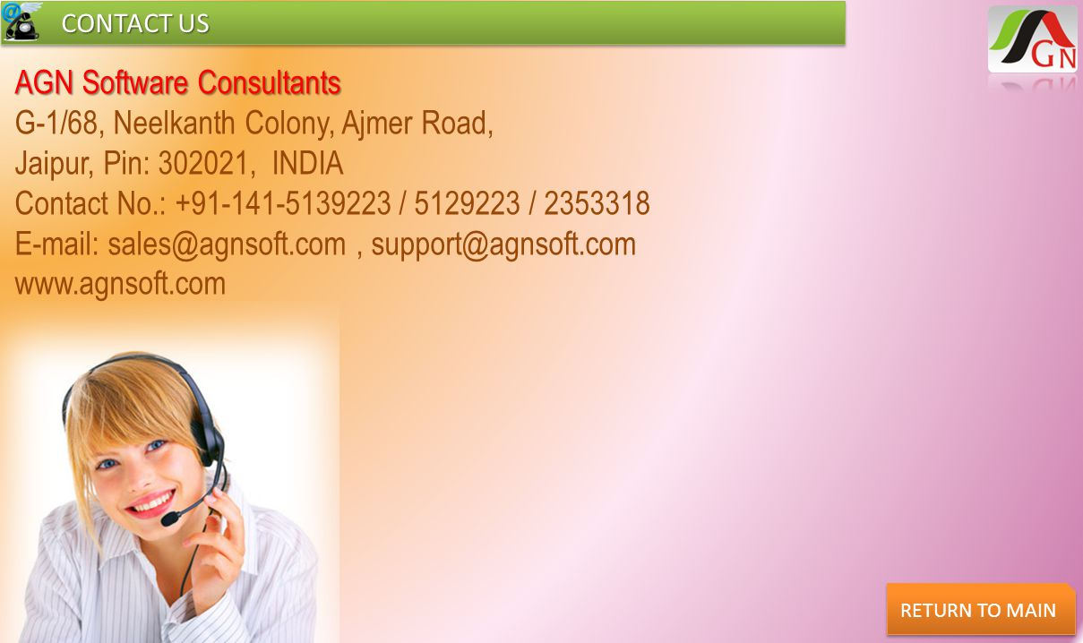 AGN Software Consultants G-1/68, Neelkanth Colony, Ajmer Road,