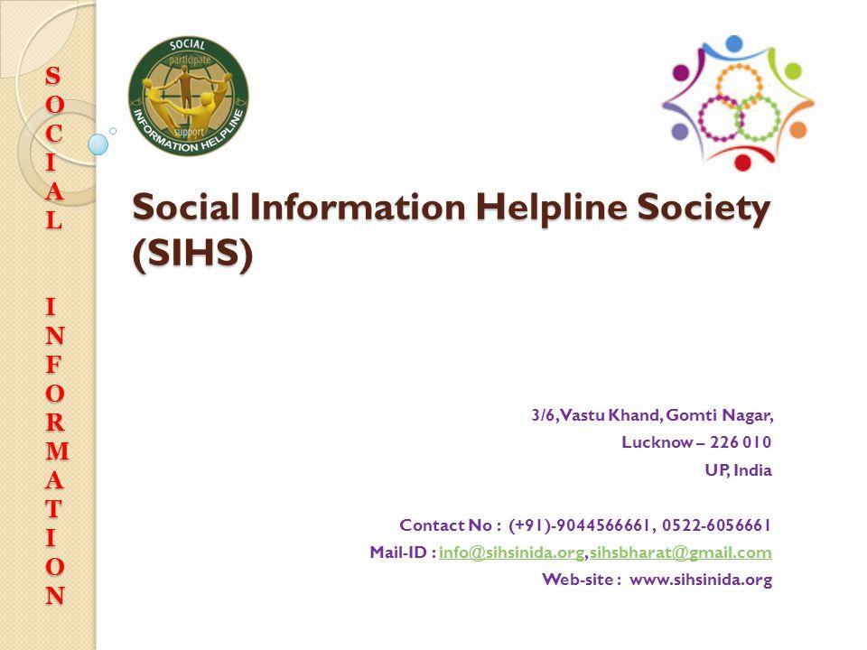 Social Information Helpline Society (SIHS)
