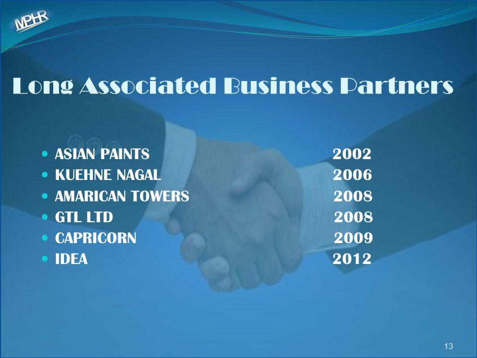 Long Associated Business Partners