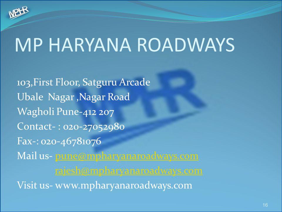 MP HARYANA ROADWAYS