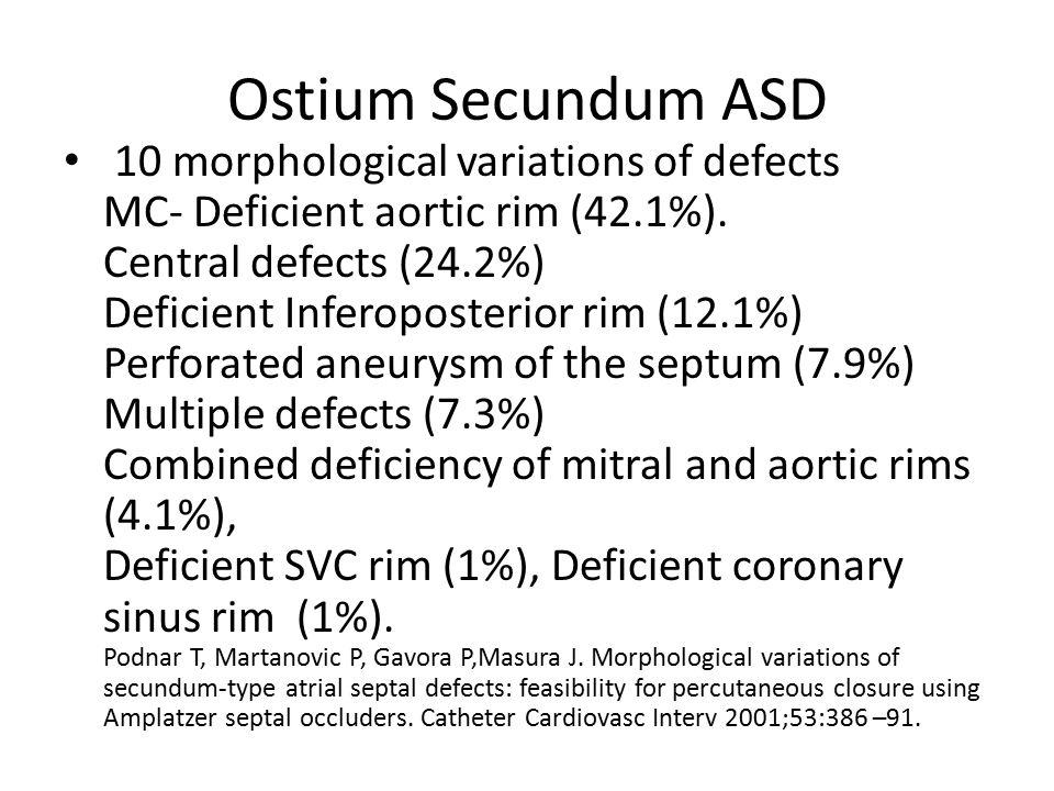 Ostium Secundum ASD