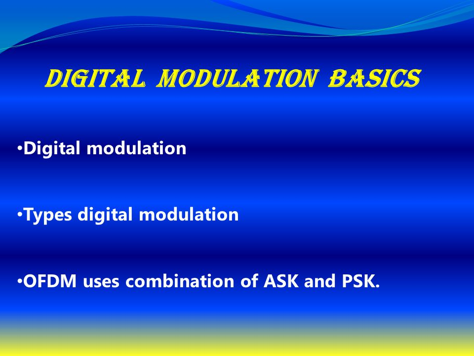 Digital modulation basics
