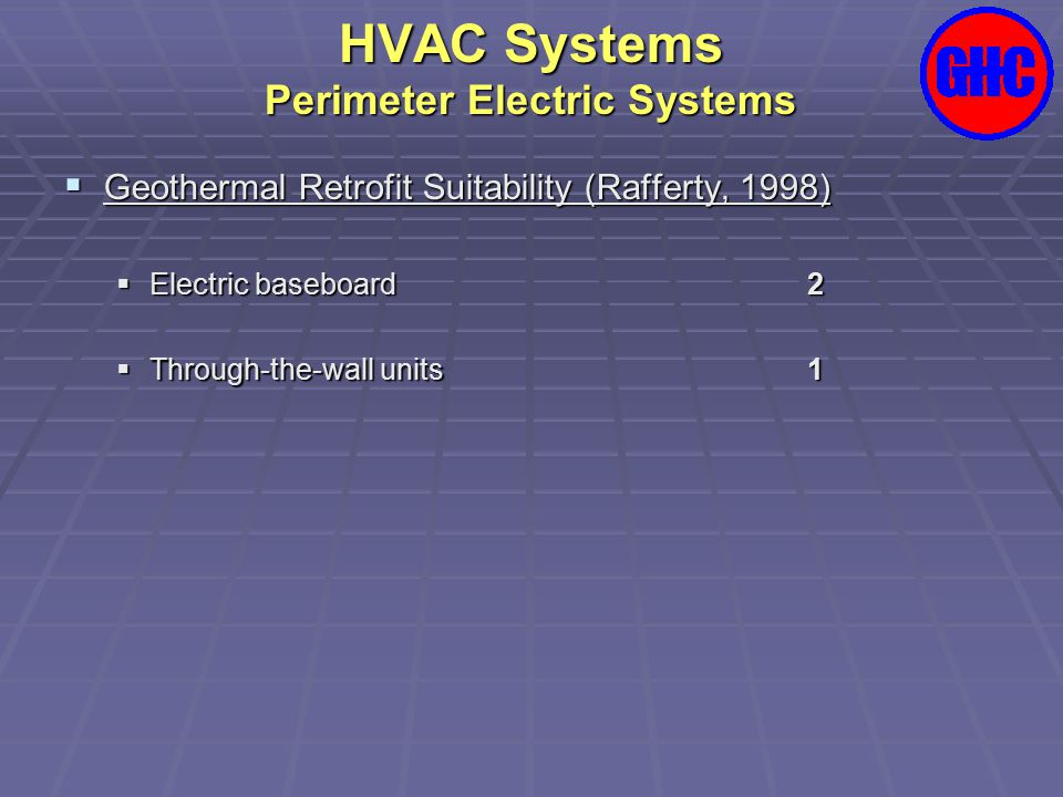 HVAC Systems Perimeter Electric Systems