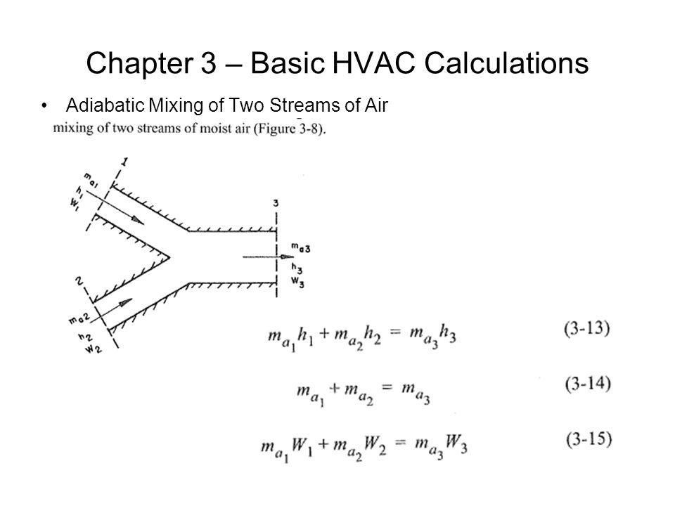 Chapter 3 – Basic HVAC Calculations
