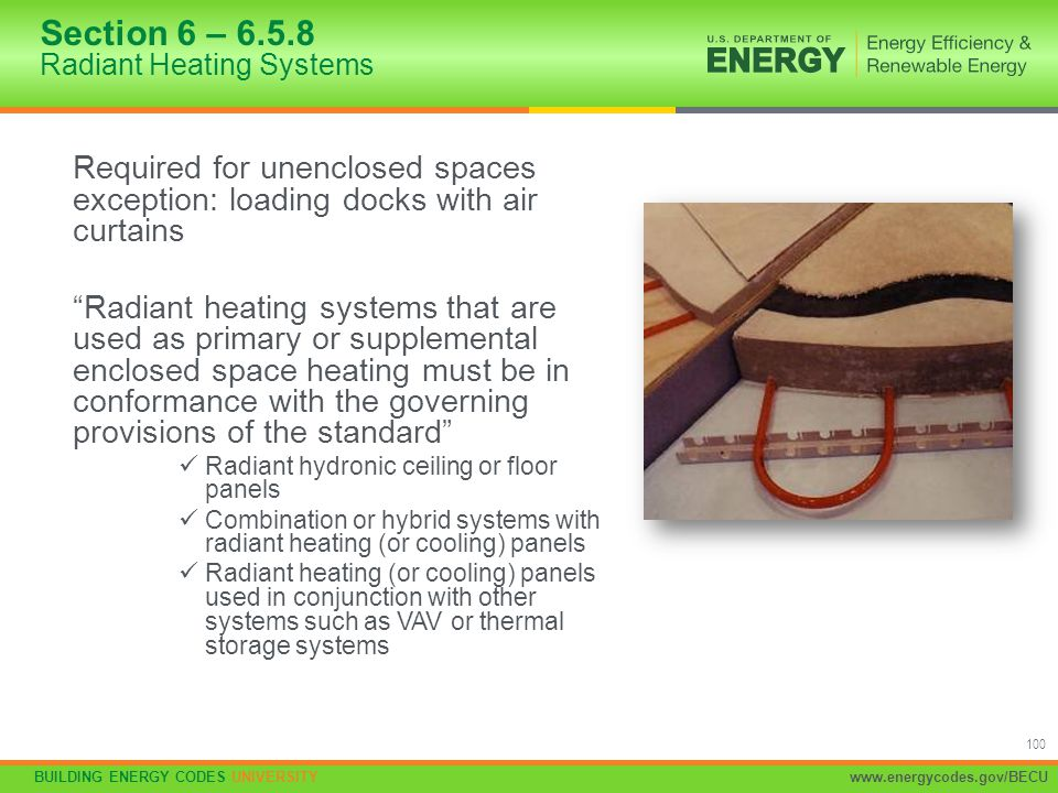 Section 6 – 6.5.8 Radiant Heating Systems