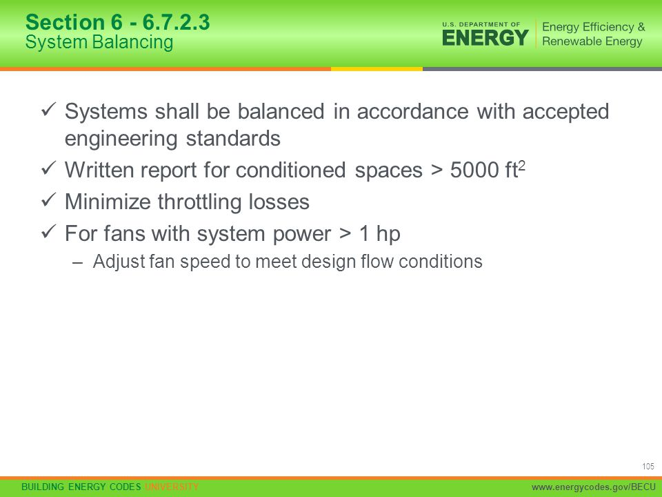 Section 6 - 6.7.2.3 System Balancing