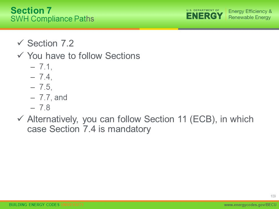 Section 7 SWH Compliance Paths
