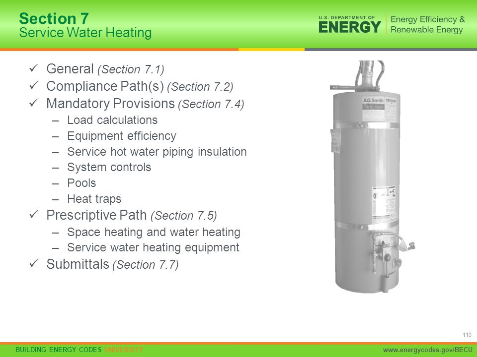 Section 7 Service Water Heating