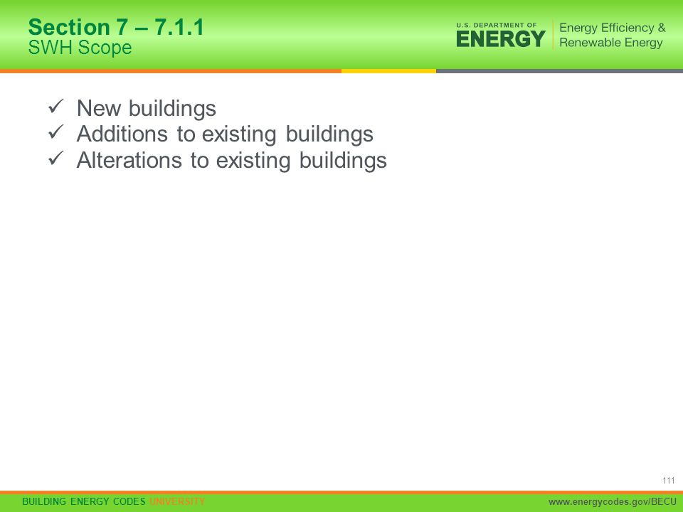 Additions to existing buildings Alterations to existing buildings