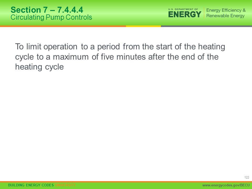 Section 7 – 7.4.4.4 Circulating Pump Controls