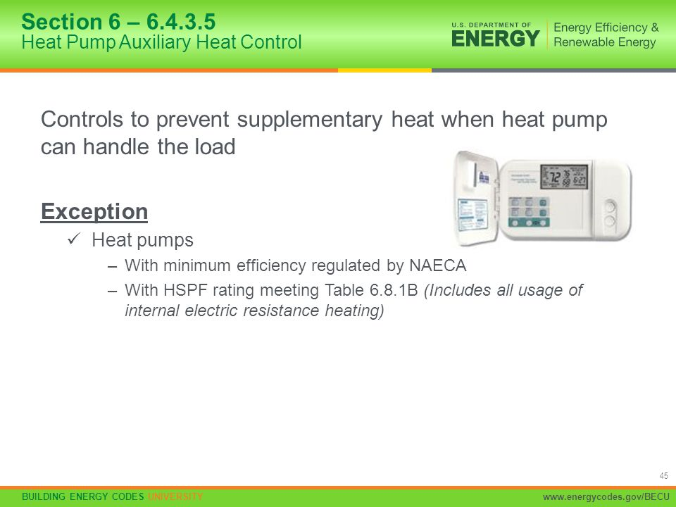 Section 6 – 6.4.3.5 Heat Pump Auxiliary Heat Control