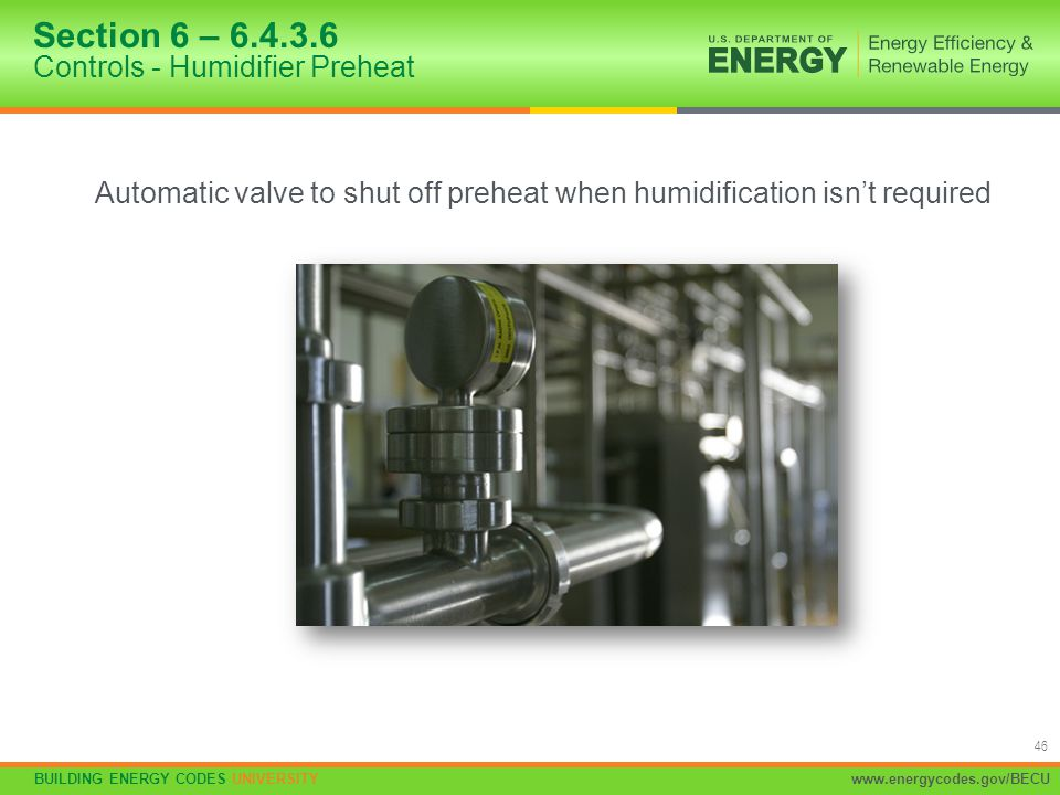 Section 6 – 6.4.3.6 Controls - Humidifier Preheat