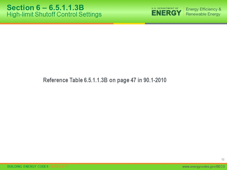 Section 6 – 6.5.1.1.3B High-limit Shutoff Control Settings