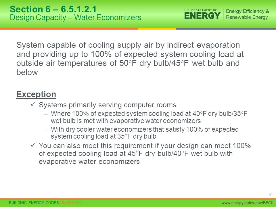 Section 6 – 6.5.1.2.1 Design Capacity – Water Economizers