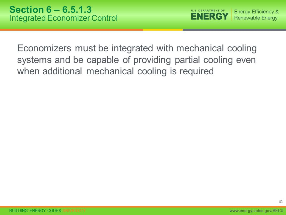 Section 6 – 6.5.1.3 Integrated Economizer Control