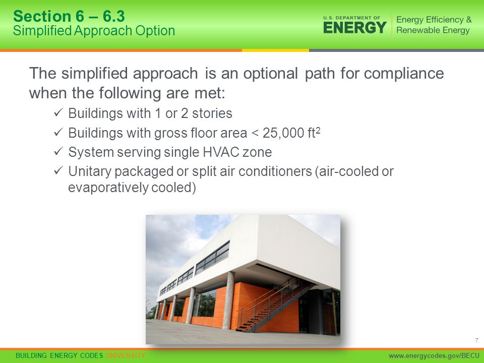 Section 6 – 6.3 Simplified Approach Option
