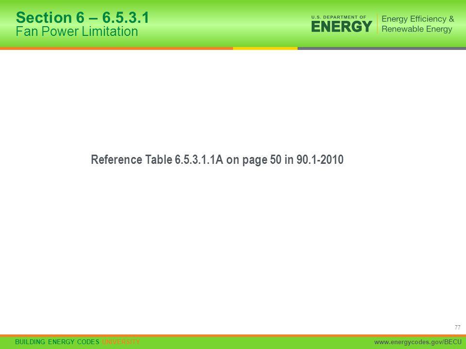 Section 6 – 6.5.3.1 Fan Power Limitation