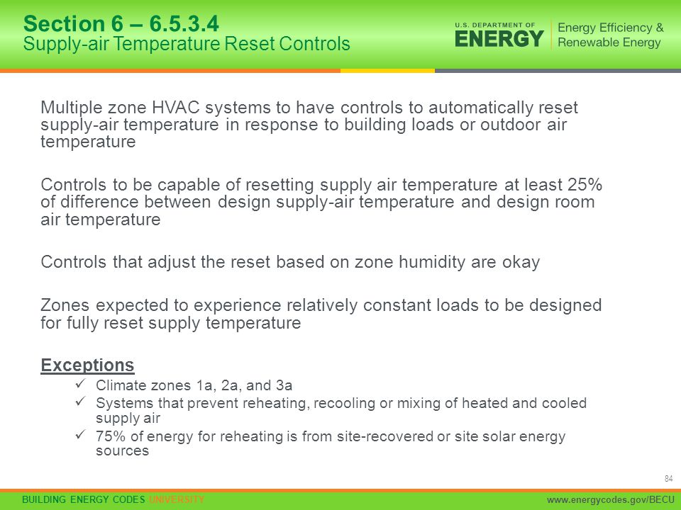 Section 6 – 6.5.3.4 Supply-air Temperature Reset Controls