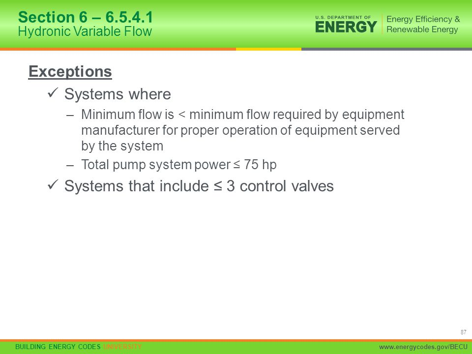 Section 6 – 6.5.4.1 Hydronic Variable Flow
