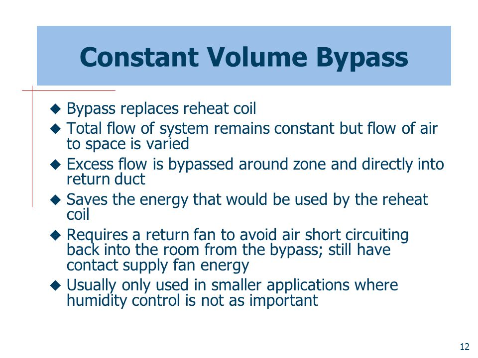 Constant Volume Bypass