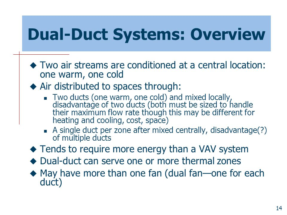 Dual-Duct Systems: Overview