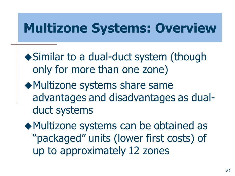 Multizone Systems: Overview