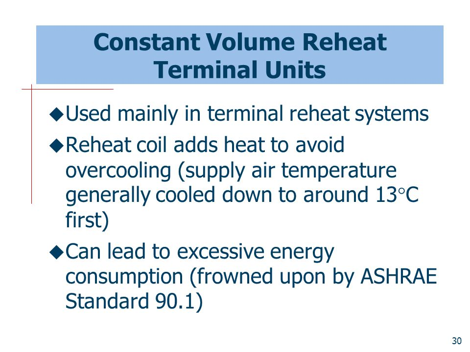 Constant Volume Reheat Terminal Units