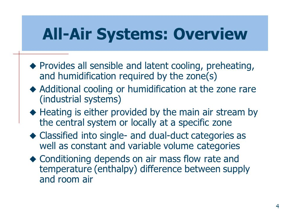 All-Air Systems: Overview