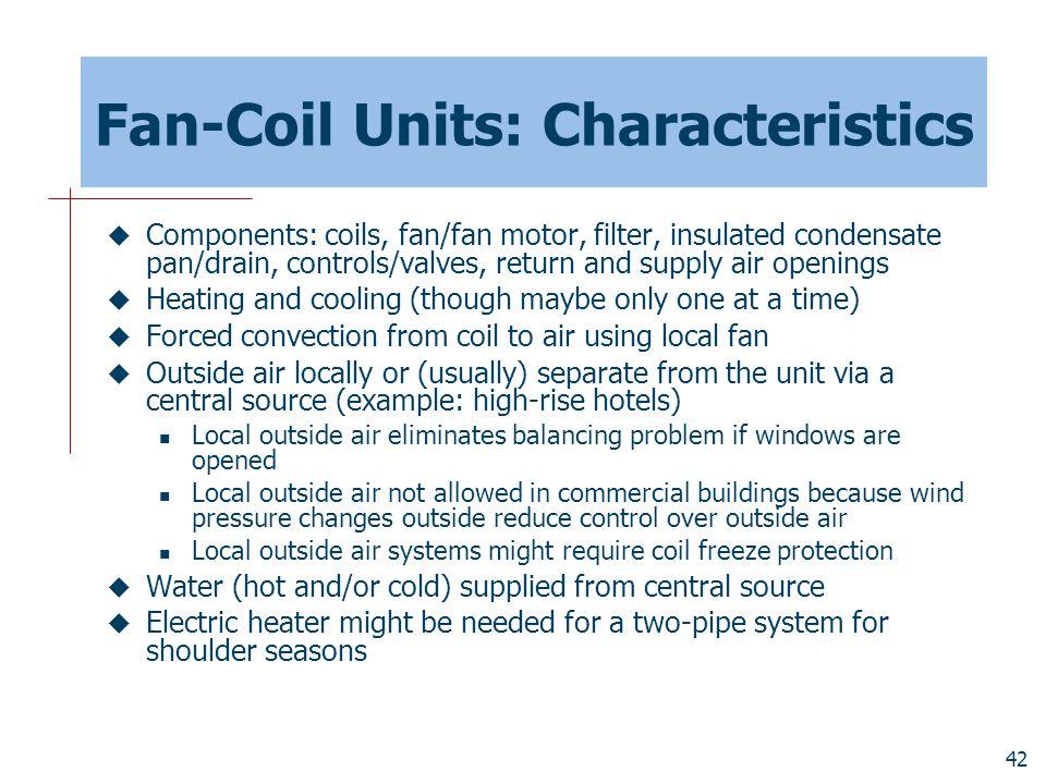 Fan-Coil Units: Characteristics