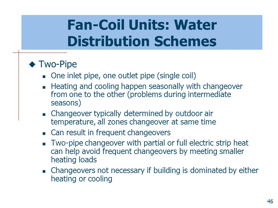Fan-Coil Units: Water Distribution Schemes
