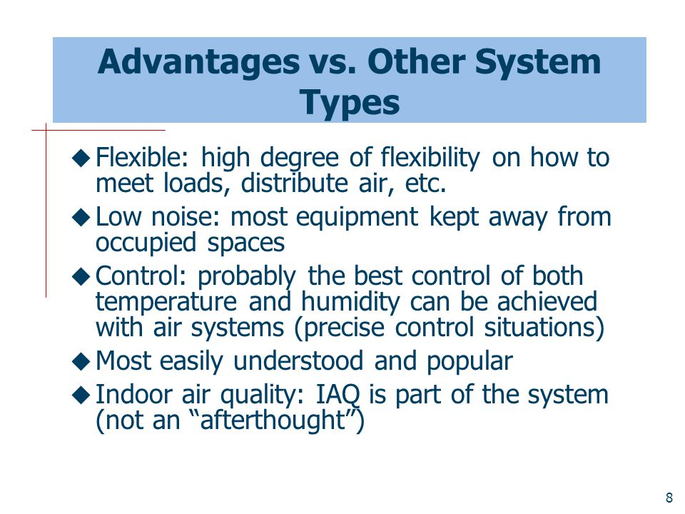 Advantages vs. Other System Types