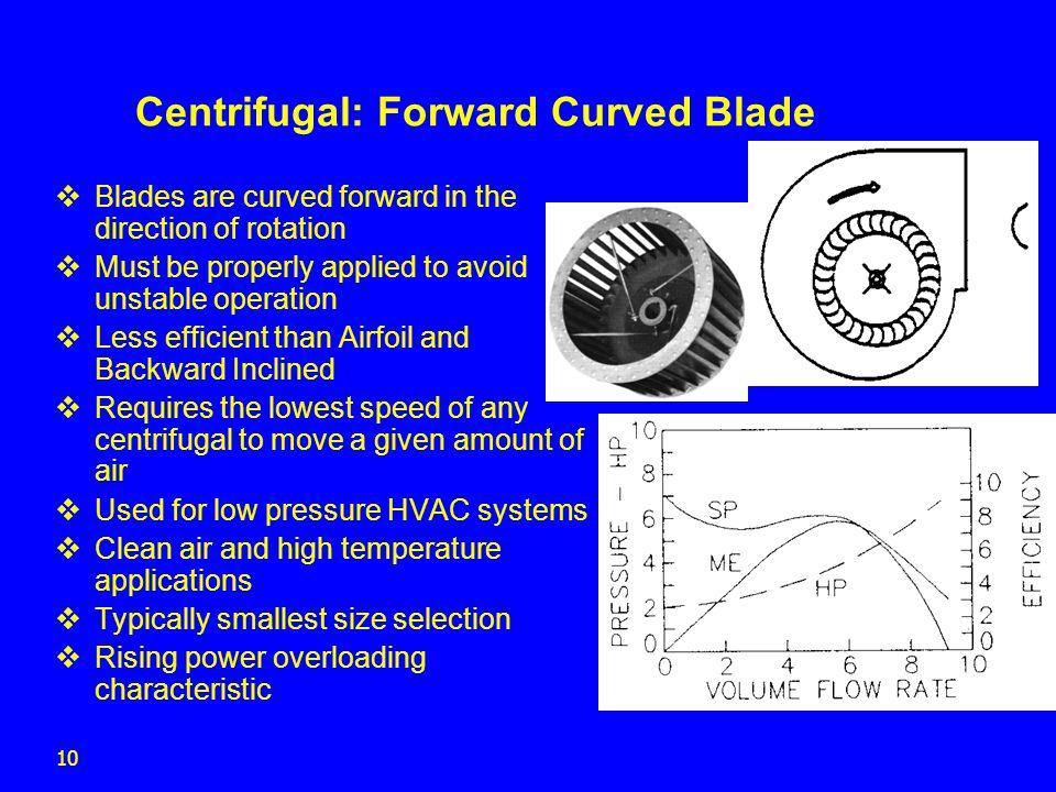Centrifugal: Forward Curved Blade