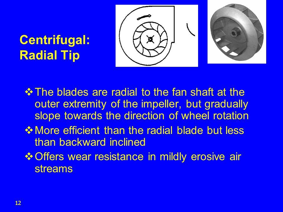 Centrifugal: Radial Tip