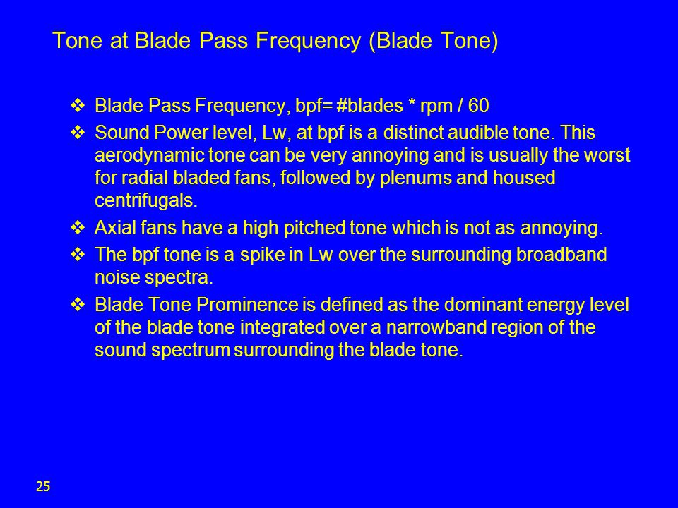 Tone at Blade Pass Frequency (Blade Tone)